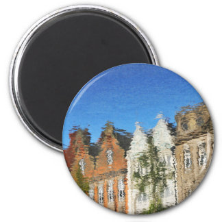 Abstract reflections 6 cm round magnet