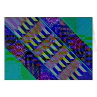 Abstract Retro Design Greeting Cards