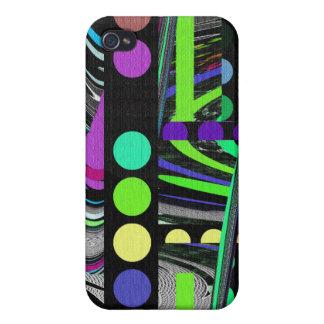 Abstract Retro Design iPhone 4/4S Case