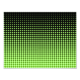 Abstract Retro Green and Black Halftone Background Photo