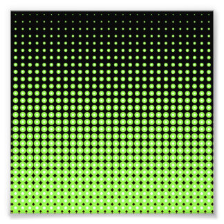 Abstract Retro Green and Black Halftone Background Photo Art
