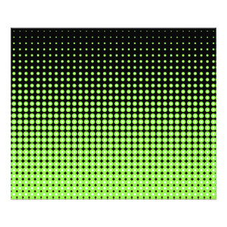 Abstract Retro Green and Black Halftone Background Photo Print