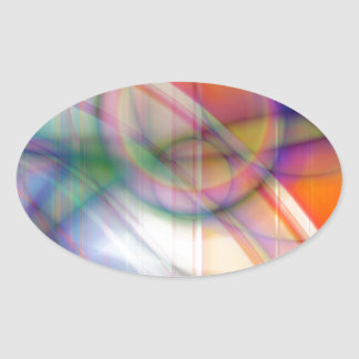 abstract retro pastell created by Tutti Oval Stickers