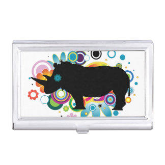 Abstract Rhino Business Card Holder