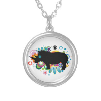 Abstract Rhino Necklace