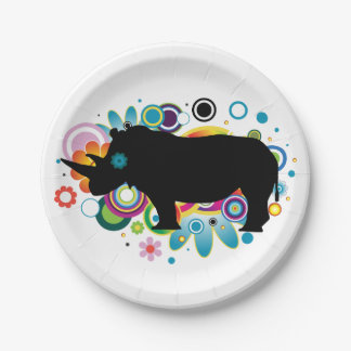 Abstract Rhino Paper Plates