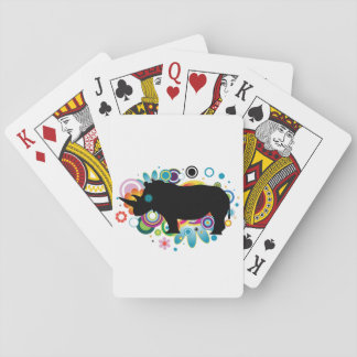 Abstract Rhino Playing Cards