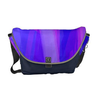 Abstract Ribbons of Blue and Violet Courier Bag