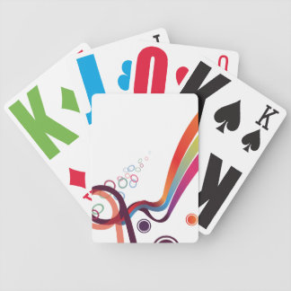 Abstract Ribbons Poker Deck