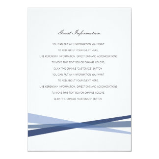 Abstract Ribbons Wedding Insert Card 11 Cm X 16 Cm Invitation Card