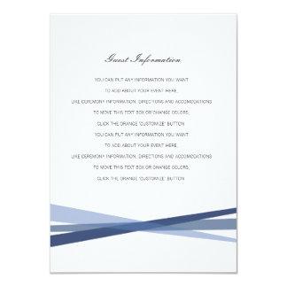 Abstract Ribbons Wedding Insert Card 11 Cm X 16 Cm Invitation Card