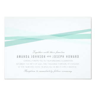 "Abstract Ribbons Wedding Invite 5"" X 7"" Invitation Card"