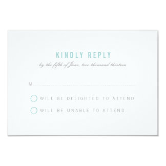 Abstract Ribbons Wedding Response Card Personalized Invitations
