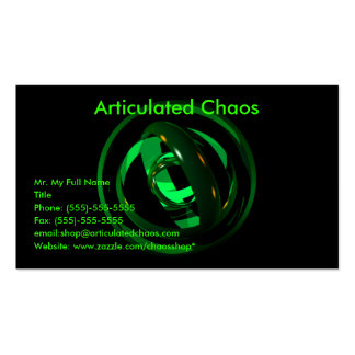 Abstract Rings Business Card