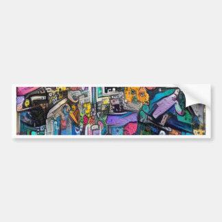 Abstract rock band bumper sticker