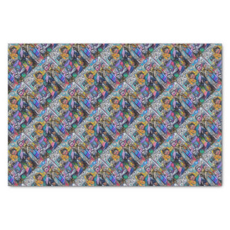 Abstract rock band tissue paper