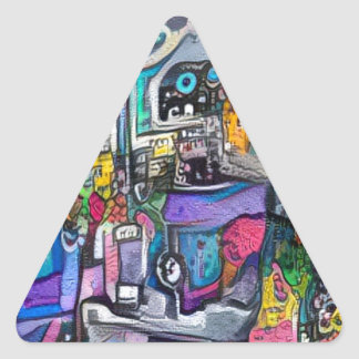 Abstract rock band triangle sticker