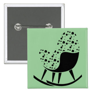 Abstract Rocking Chair Pin