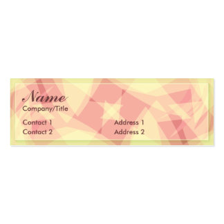 ABSTRACT ROSA PROFILE CARD BUSINESS CARD TEMPLATES
