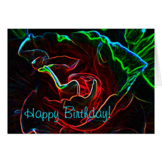Abstract Rose birthday card