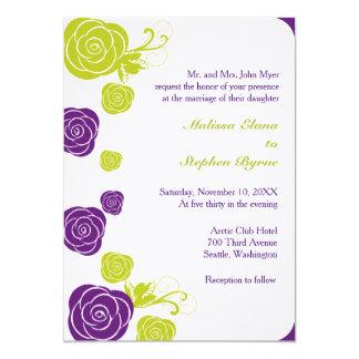 Abstract Rose Border Invitation
