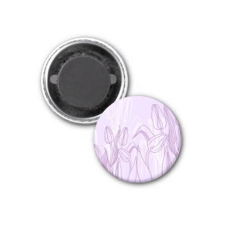 Abstract Rose Buds 3 Cm Round Magnet