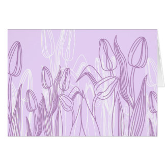 Abstract Rose Buds Greeting Card