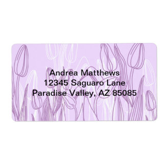 Abstract Rose Buds Shipping Label
