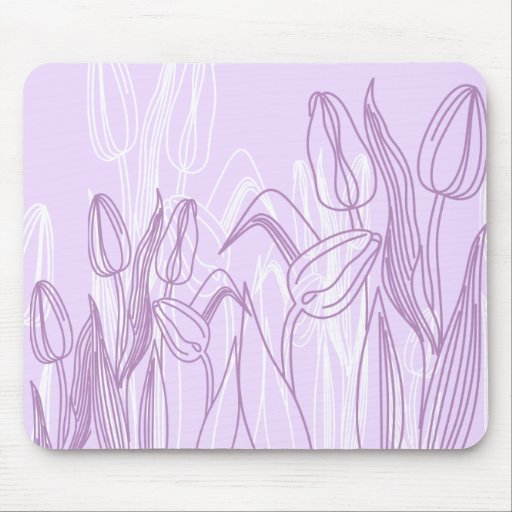 Abstract Rose Buds Mouse Pad