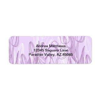 Abstract Rose Buds Return Address Label
