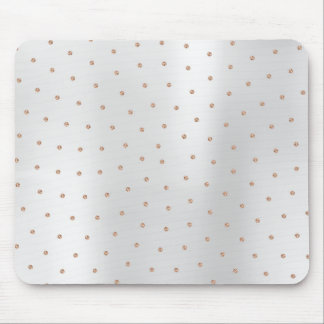 Abstract Rose Gold Swarovski Crystals Silver Gray Mouse Pad