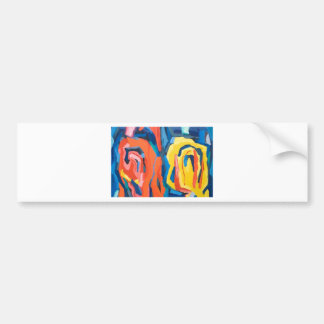Abstract Rosebuds (abstract expressionism) Bumper Sticker