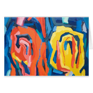 Abstract Rosebuds (abstract expressionism) Greeting Card