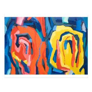 Abstract Rosebuds (abstract expressionism) Postcard