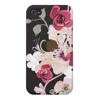 Abstract roses and cherry blossom flowers Speck Ca Covers For iPhone 4