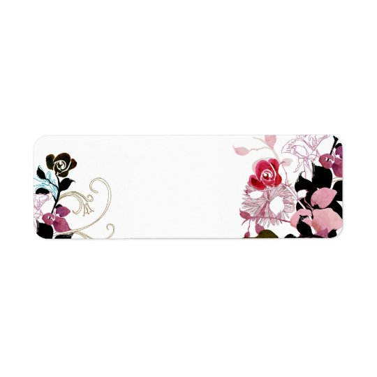 Abstract roses Avery Label
