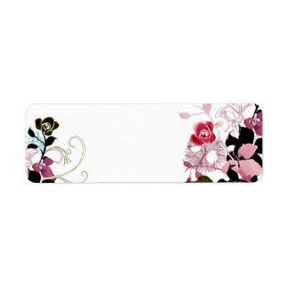 Abstract roses Avery Label Return Address Label