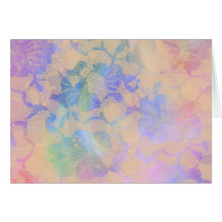 Abstract Roses In Pastel Colors Card