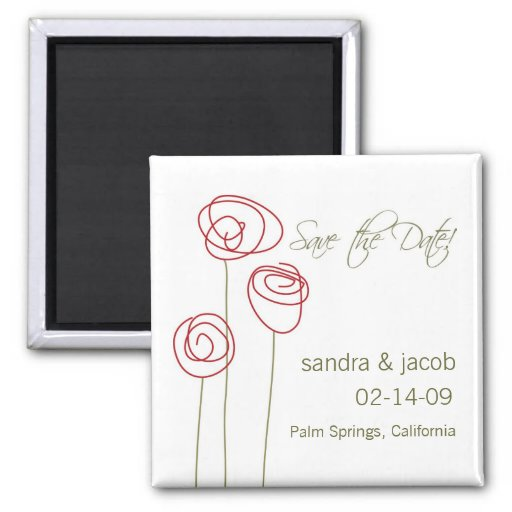 Abstract Roses- Personalize it! Refrigerator Magnets