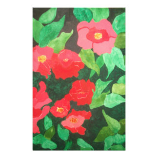 abstract roses stationery paper