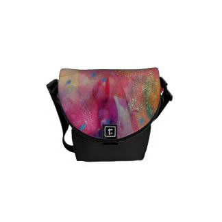 ABSTRACT RUBY MESSENGER BAG