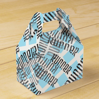 Abstract Runner Wedding Favour Boxes