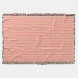 Abstract salmon pink stripes pattern throw blanket