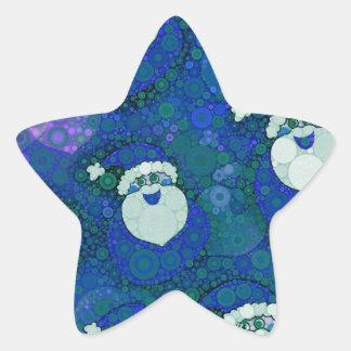 Abstract Santa Star Sticker