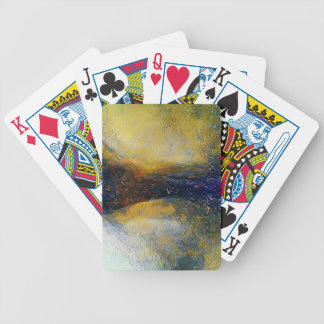 Abstract sci-fi alien worlds bicycle playing cards