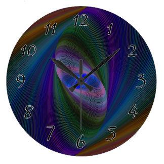 Abstract Sci-Fi Elipse Clocks