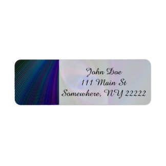 Abstract Sci-Fi Elipse Return Address Label
