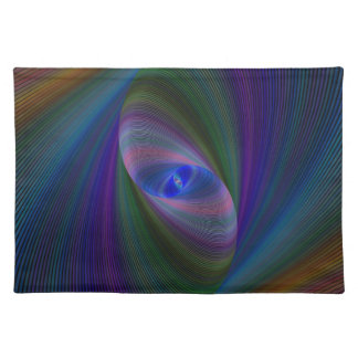 Abstract Sci-Fi Elipse Placemat