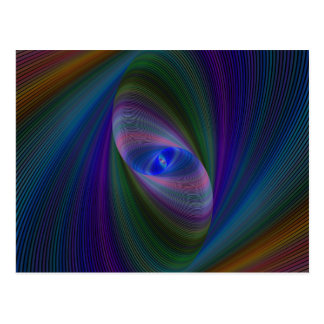 Abstract Sci-Fi Elipse Postcard