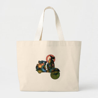 abstract scooter 2 large tote bag